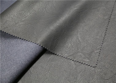 100% Viscose Embossed PU Leather 300 Gsm Anti - Mildew For Clothing Fabric